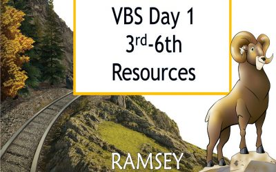 VBS Day 1 3rd-6th Resources
